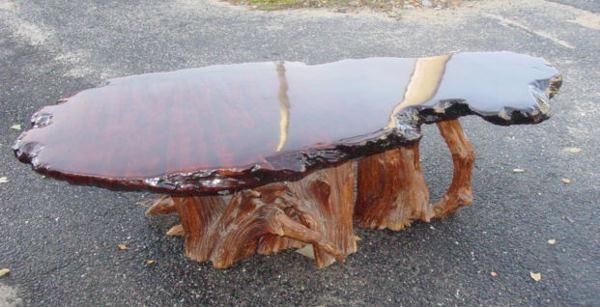 tree stump and tree trunk furniture