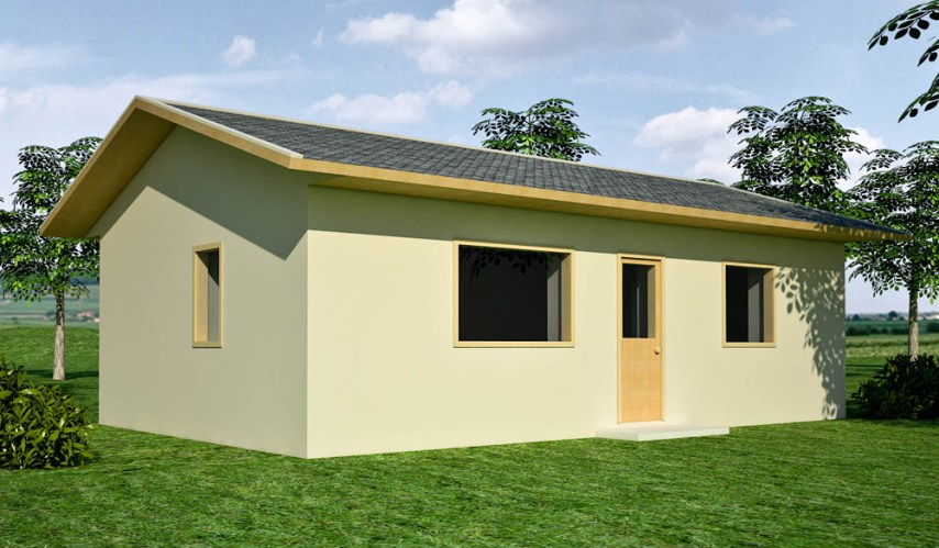 one bedroom   Earthbag House Plans Free Economizer Earthbag House Plan  click to enlarge