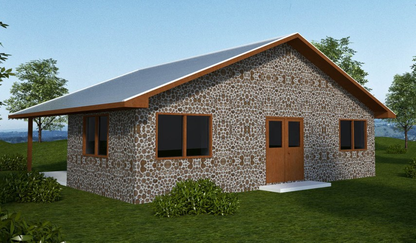 Earthbag House Plans   Small  affordable  sustainable earthbag house     This cordwood house could be built with earthbags  straw bales or other  sustainable materials
