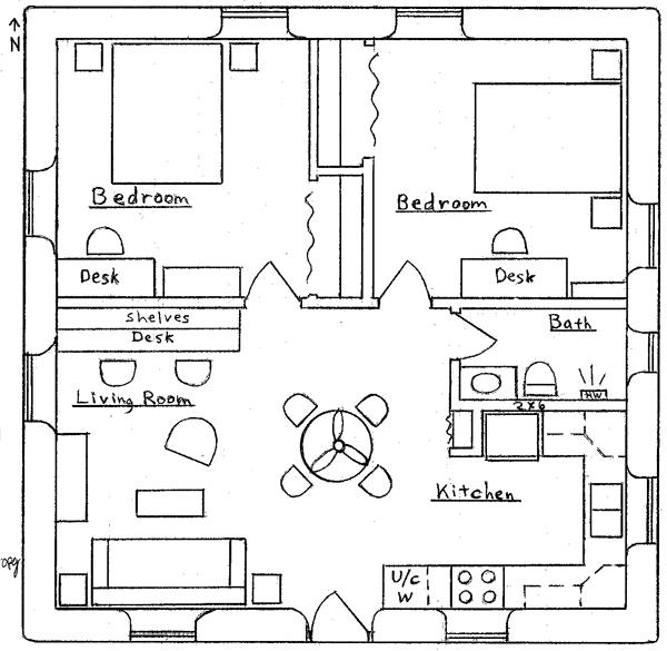 Square clerestory earthbag house earthbag house plans for Clerestory house designs