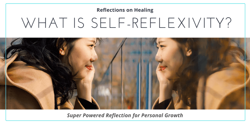 What is Self-Reflexivity Woman Smiles At Mirror Image