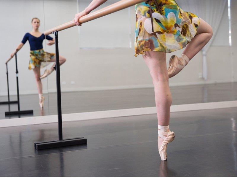 Reflexive Practice - Ballerina watches her form in the mirror