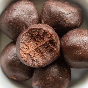 no bake brownie bites