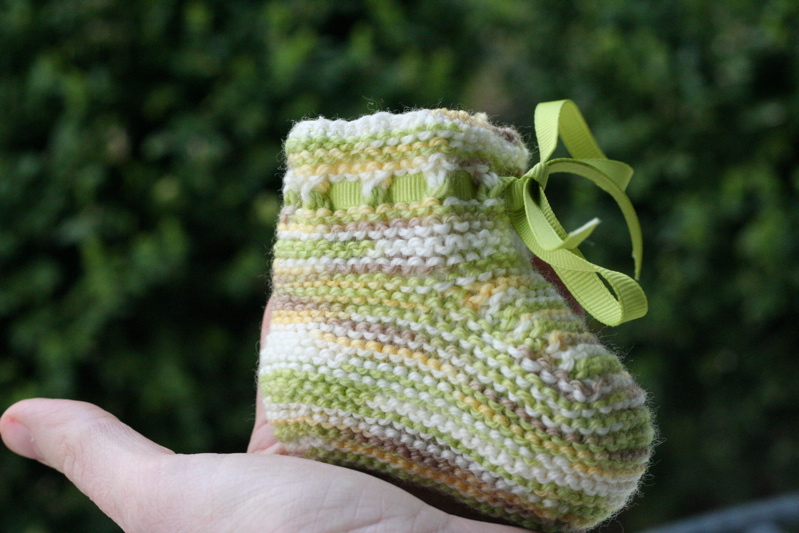 Oscar Booties, with ribbon tie