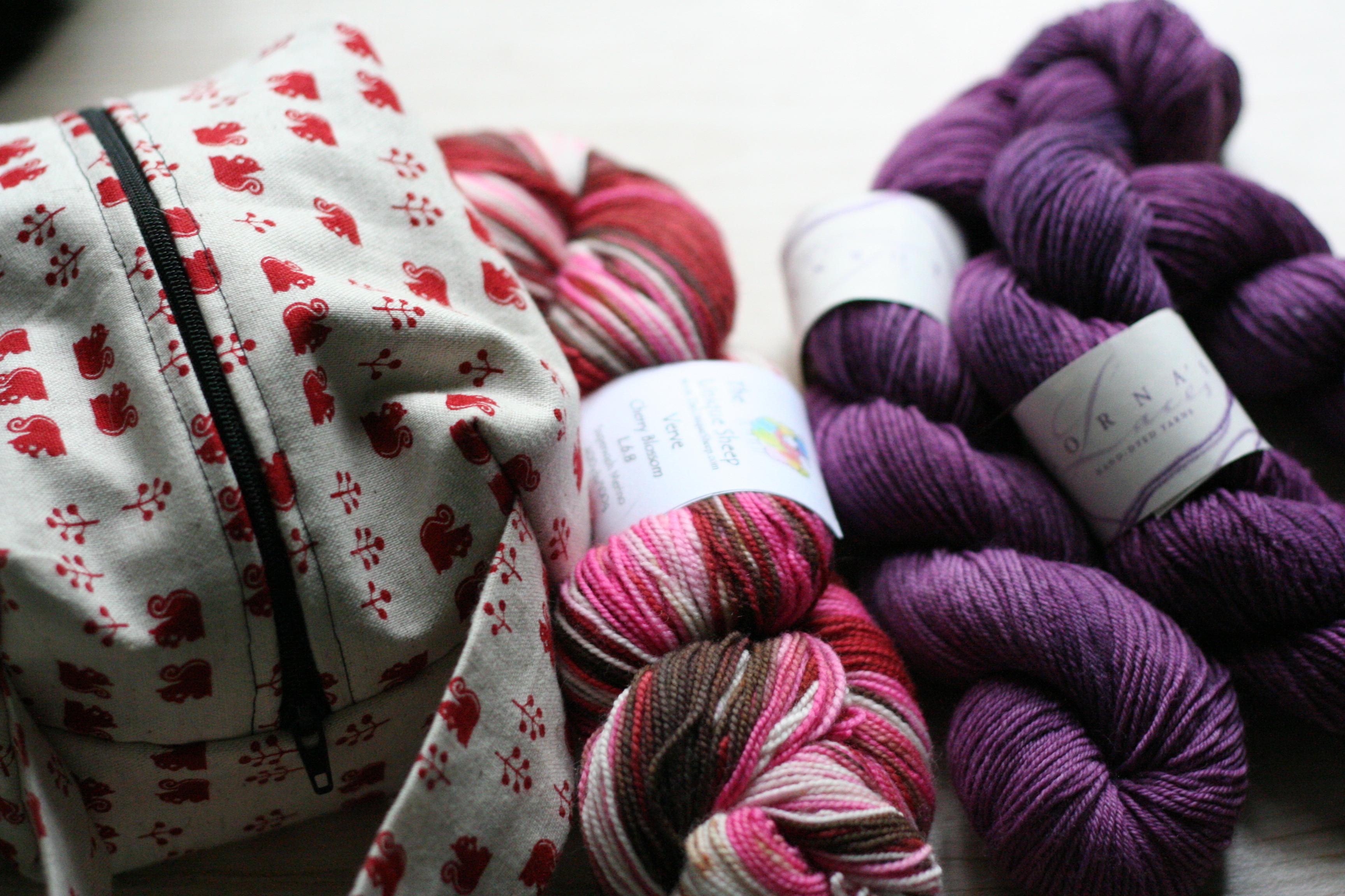 Schrodinger Sock Cube, Verve sock yarn, Lorna\'s Laces sock yarn