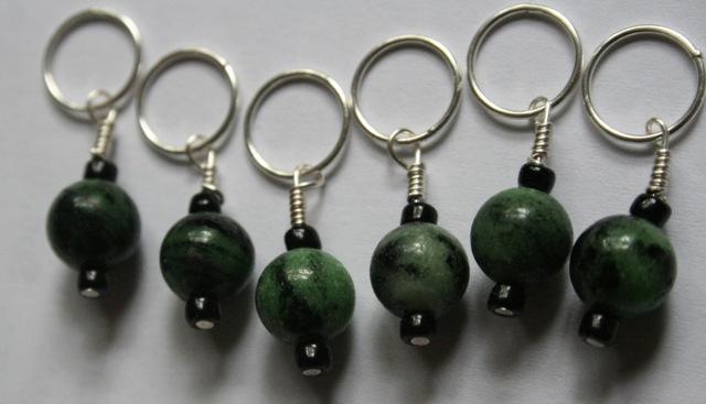 green stitch markers