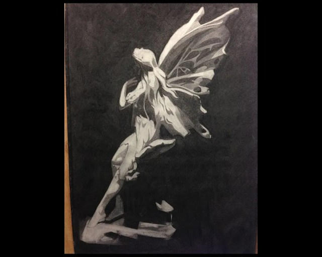 1000 days of art: charcoal fairy