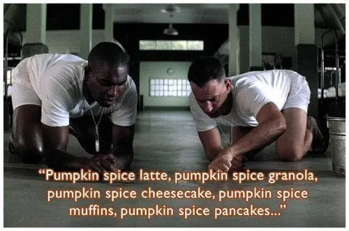 forrest gump pumpkin spice