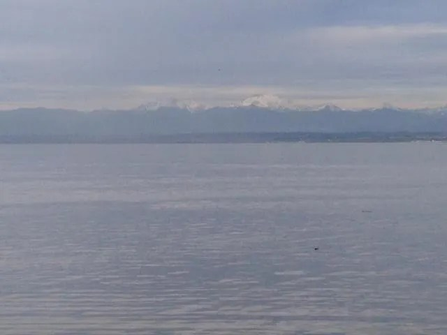 mountains from the ferry