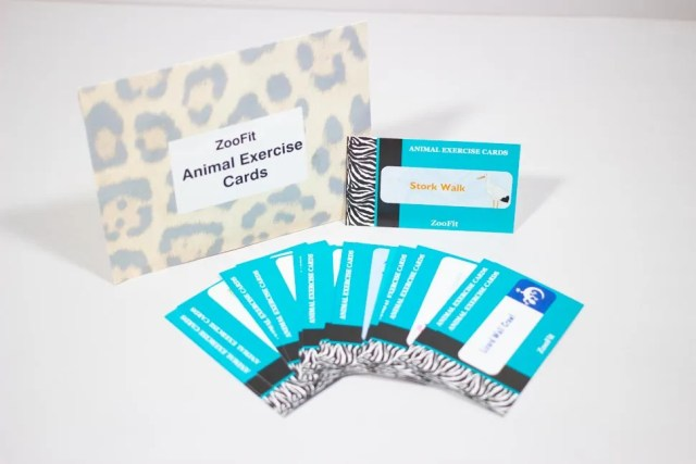 Animal exercise cards