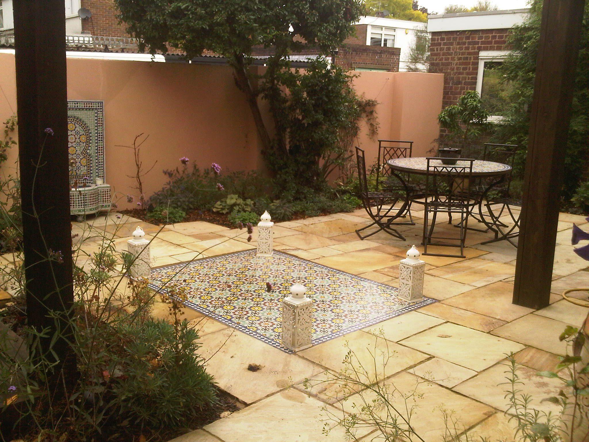 Moroccan Garden Design Greenwich London | 0203 553 7523 on Moroccan Backyard Design id=47160