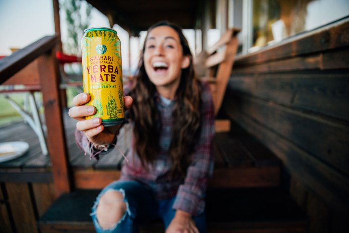 Cheers to a little sip of sunshine! Guayaki, a brew benefiting people and nature. Photo: Kylie Fly