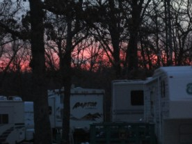 The sunset at our RV spot :)