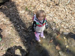 Marlee playing in the creek