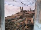Under the tarp :)