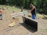 Setting up the first array June 2013