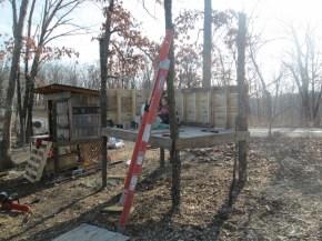 Progress on the pallet goat house