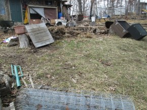 Here is the space we picked to dig in and permenently set this colony cottage (known now as Colony Cottage Alpha)