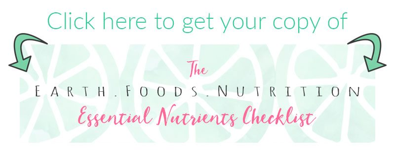Essential Nutrients Checklist