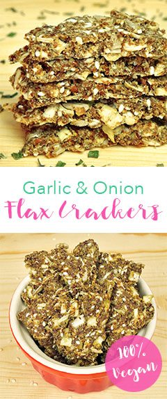 Vegan Garlic and Onion Flax Crackers