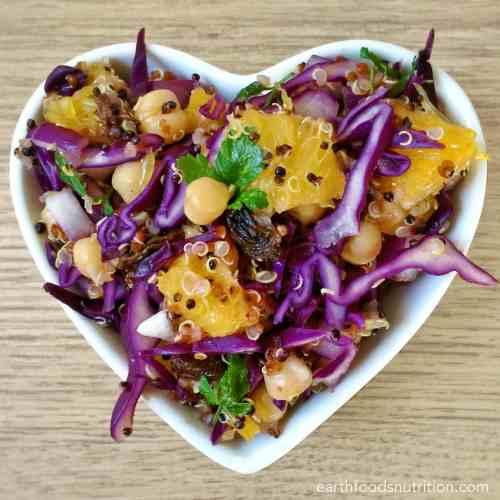 Orange and Red Cabbage Quinoa Salad [Vegan Recipe]