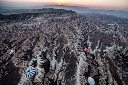 Dawn Over Cappadocia from a Balloon