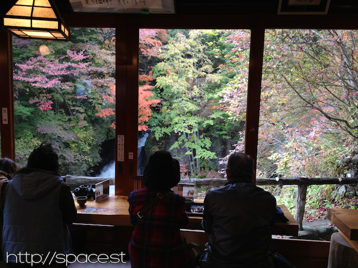 Good luck trying to get the 5 seats in the restaurant that have an amazing view directly in front of the waterfall.
