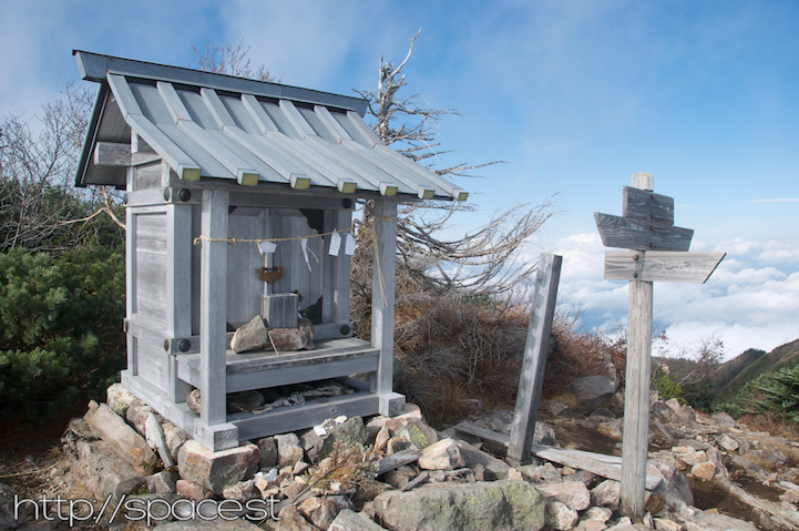 shrine on Nyoho Mountain peak
