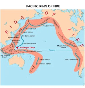 Pacific Ring of Fire Map
