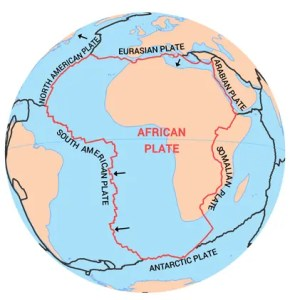 African Plate Tectonic Boundary