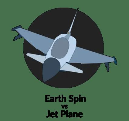 Earth Spin vs Jet Plane