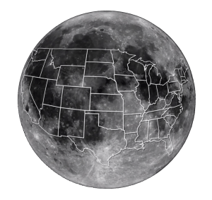 Moon United States Overlay