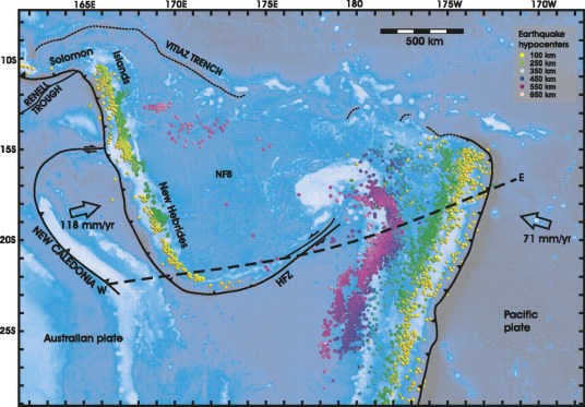 Image result for The New Hebrides Fracture, Pacific Ocean