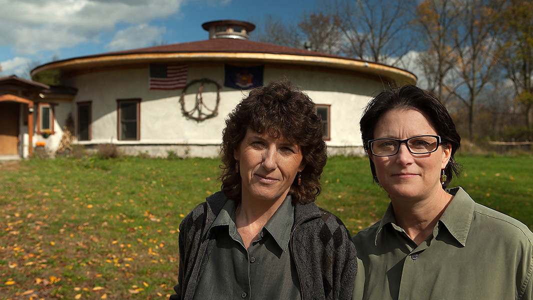 Deborah and Joanne Cipolla-Dennis at their home in Dryden, NY.