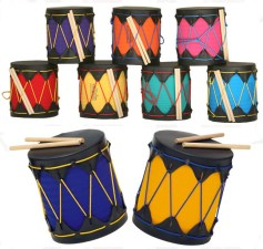 Get your kids marching to the beat of their own drum with these colourful, handmade drums that produce mellow, parent friendly tones. No earplugs needed! A perfect introduction to percussion and music. Want to buy one? http://bit.ly/119aUCu