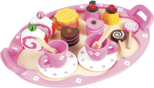 Tea for two? This divinely gorgeous patisserie set will inspire imaginary tea parties with friends every afternoon. Sustainably made from plantation tea wood and ply. Want to buy one? http://bit.ly/135YWuA