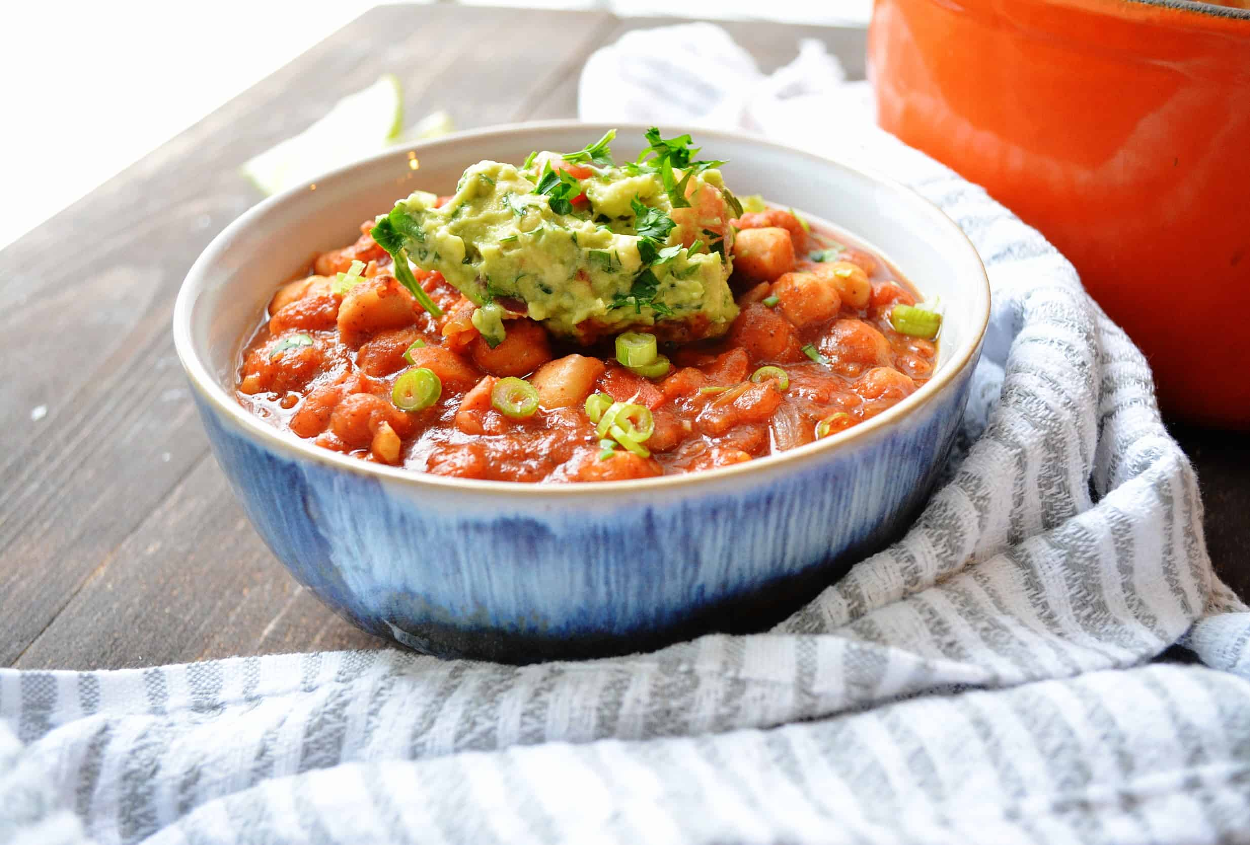 Chickpea and Pinto Bean Chili