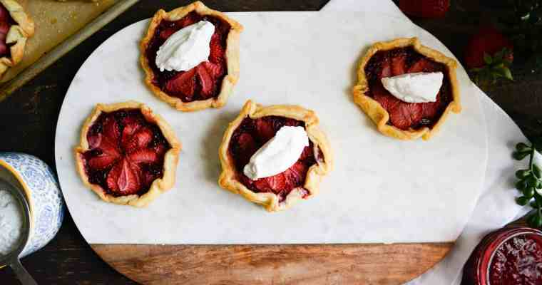 Mini Berry Gallets with Chantilly Cream