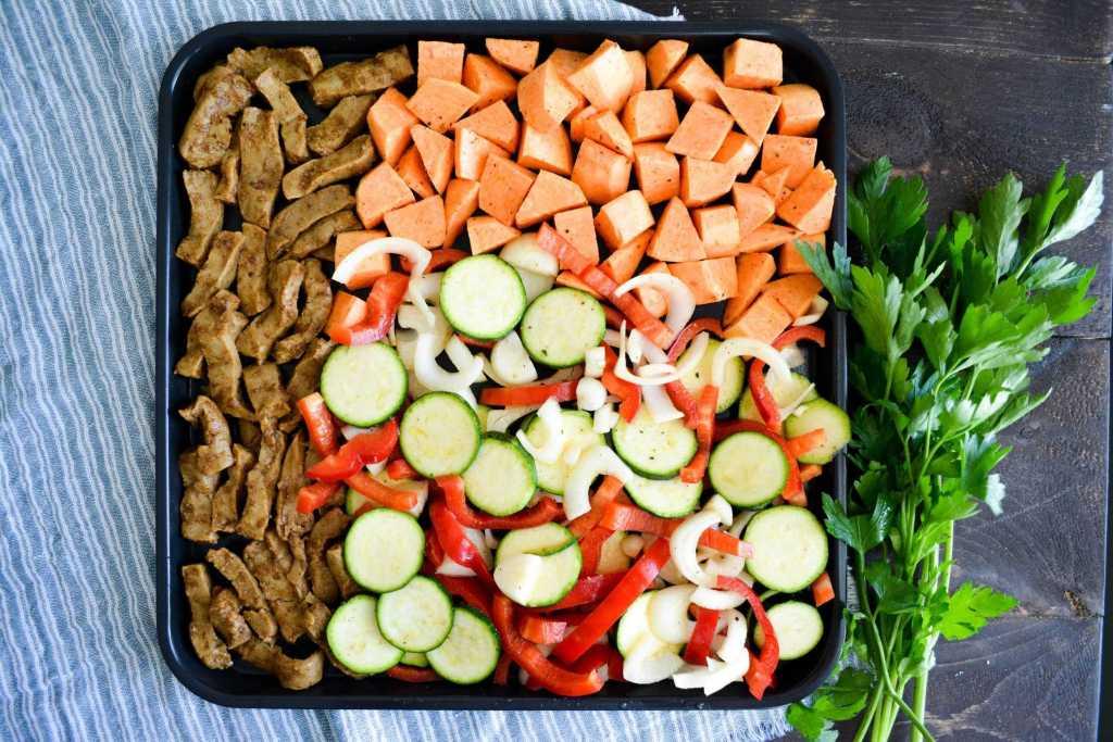 Seitan and veggies