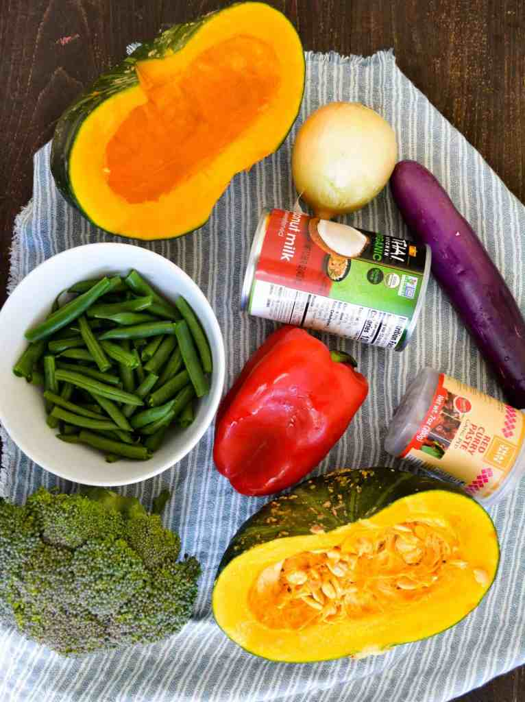 Kabocha Red Curry Ingregients