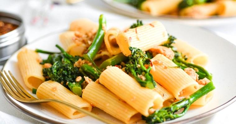 Rigatoni with Sausage and Broccolini