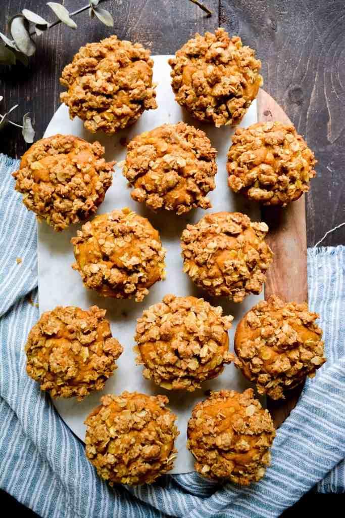 Flat photo of coffee cake muffins