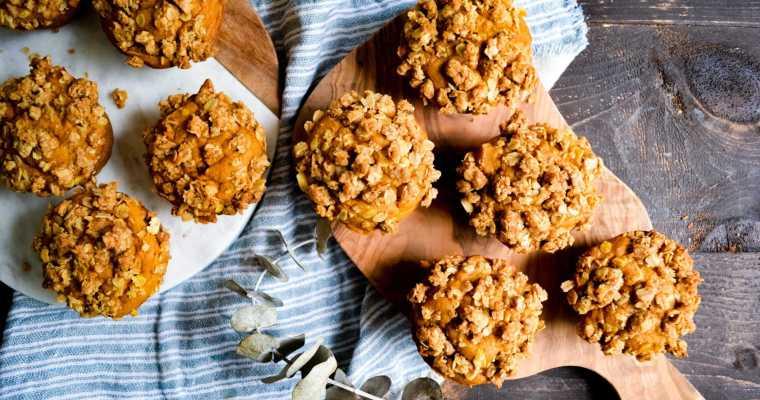 Pumpkin Spice Coffee Cake Muffins