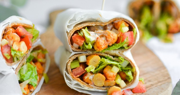 Buffalo Chickpea Wraps with Ranch