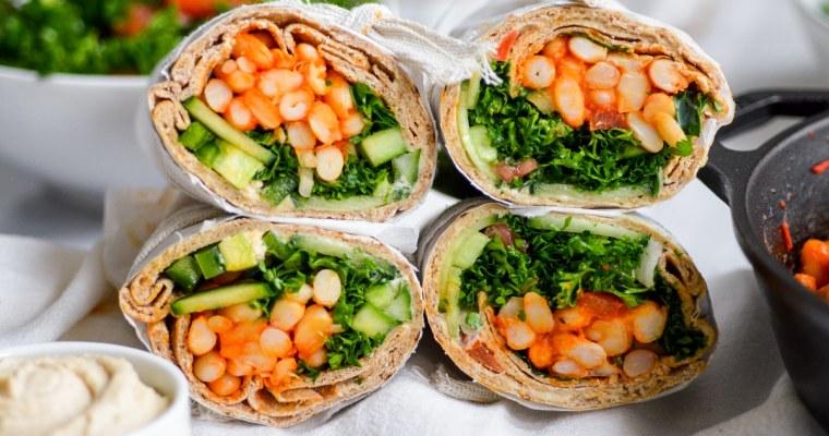Pita Bread Sandwich with Harissa White Beans