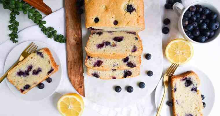 One-Bowl Blueberry Lemon Loaf