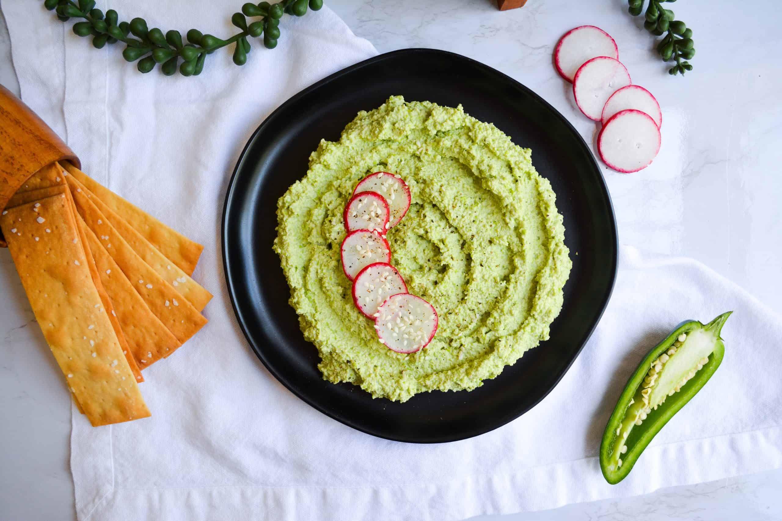 Spicy Jalapeño Edamame Hummus