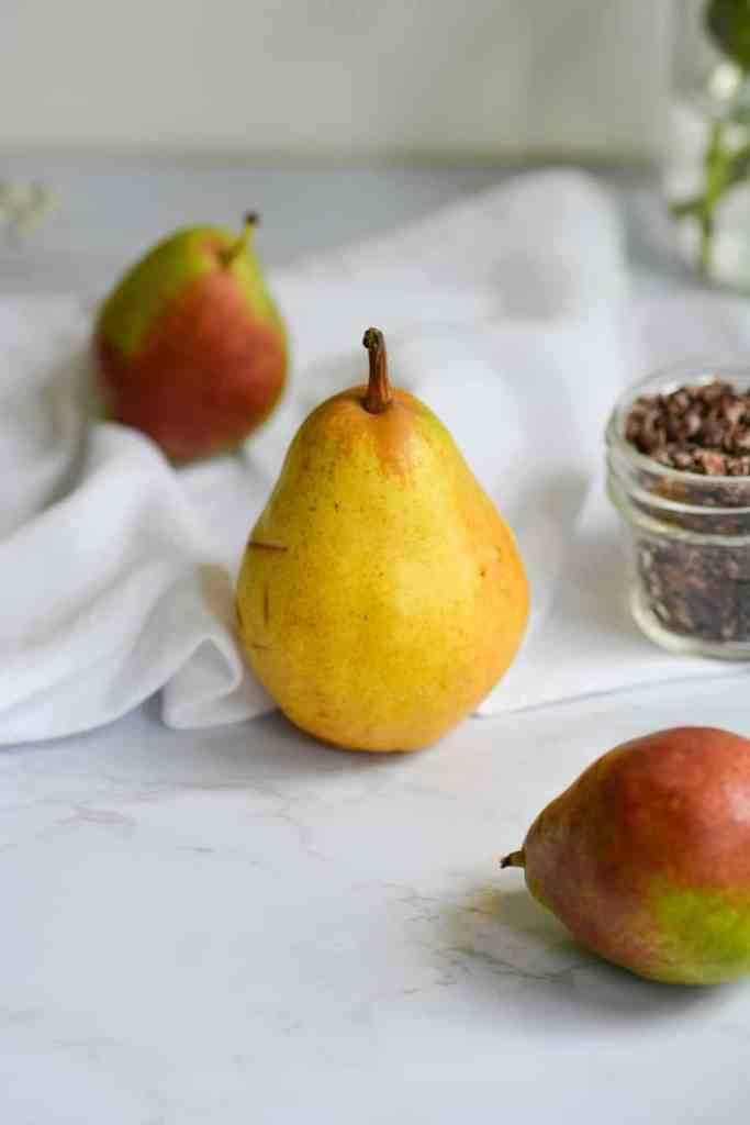 a ripe bartlett pear