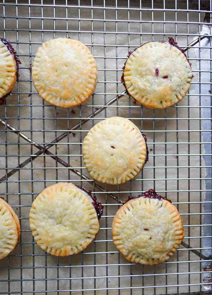 baked unglazed vegan pop tarts on a cooling rack