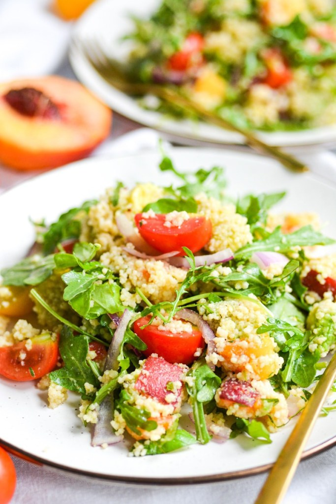 Vegetarian Couscous Salad on two plates
